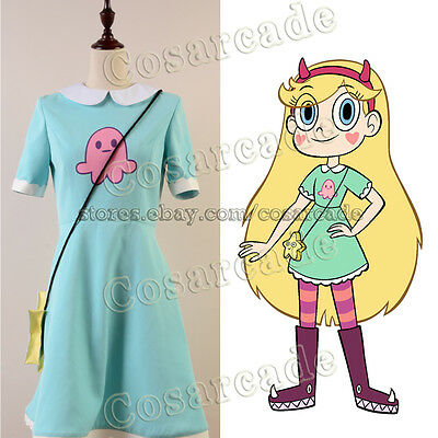 Star vs.the Forces of Evil Princess Star Butterfly Attire Cosplay Costume Dress