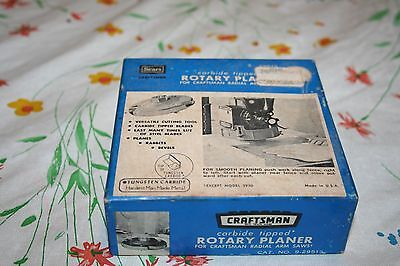 Vintage Sears Craftsman Carbide Tipped Rotary Planer 9.29513 for Radial Arm Saw