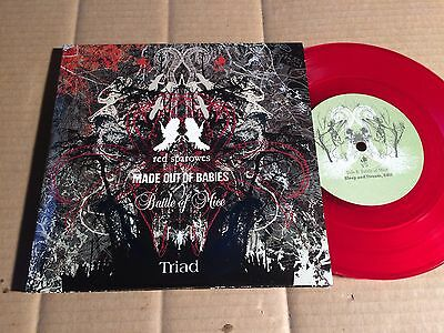 """RED SPAROWES / MADE OUT OF BABIES / BATTLE OF MICE - TRIAD - 3 x 7"""" SINGLE(BU63)"""
