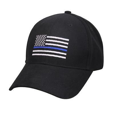 Police Thin Blue Line Cap Low Profile Hat Baseball Support Law Enforcement (SBC)