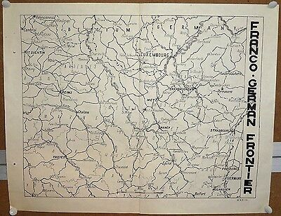 "India WW2 war map poster Franco German Frontier 13.5""x17"""