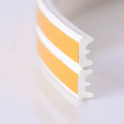 10m Foam Draught Self Adhesive Window Door Excluder Tape Seal Strip Rubber White