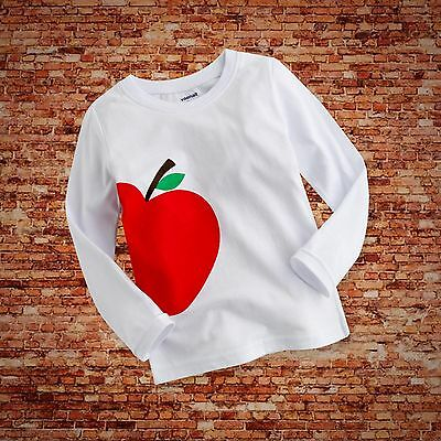 "NWT Baby Toddler Kids Boy Girl Clothes Long Top Tee Shirts""Red Apple""12-24 Month"