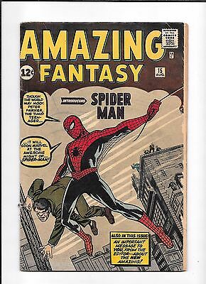 Amazing Fantasy #15 ==> Vg/vg- 1St Appearance Of The Amazing Spider-Man 1962