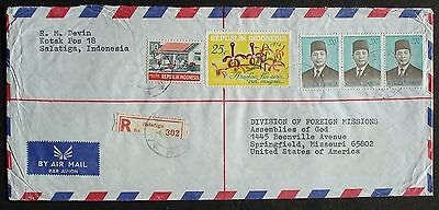 INDONESIA # POSTAL COVER to US, 1977