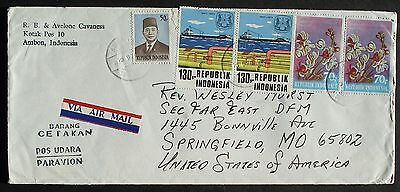 INDONESIA # POSTAL COVER to US, 1976
