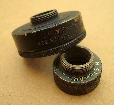 Two J.H.Steward eyecups for Parker Hale rifle sight eyepieces