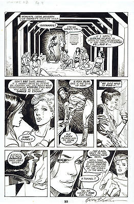 "Brent Anderson original art page - Valkyrie! #2 ""The Eternal"" pg 32 - 1988"