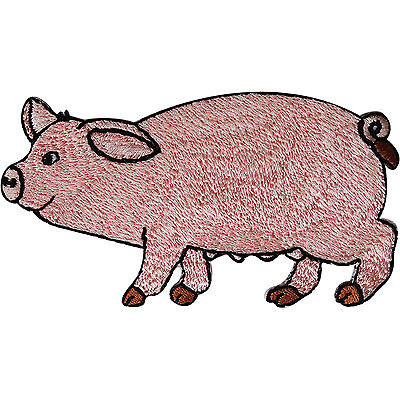 Pig Patch Embroidered Iron Sew On Clothes Badge Farm Animal Embroidery Applique