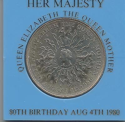 1980 QUEEN ELIZABETH THE QUEEN MOTHER UNCIRCULATED CROWN- Ulster bank case