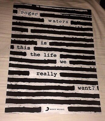 2017 Roger Waters Is This The Life We Really Want? Mexican Promo Poster No Cd