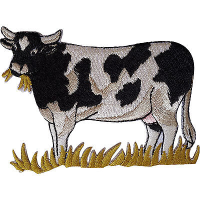 Cow Patch Embroidered Iron Sew On Clothes Badge Farm Animal Embroidery Applique