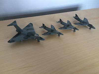 4 X Vintage Dinky Toys Military Aircraft