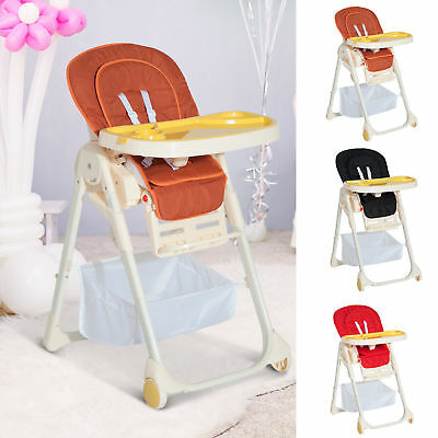 Baby High Chair Infant Feeding Seat Adjustable Table Recline