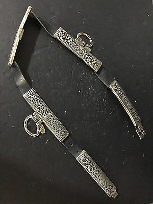Antique 18th-19th Century Tibetan Silver Sword Belt
