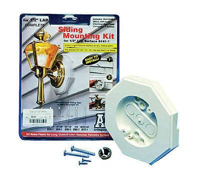 Arlington 8141 1 Vertical Siding Lamp Mounting Kit With
