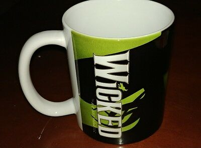 WICKED Broadway Play Coffee Mug Cup Collectible Wizard Of Oz Good Vs Evil Witch