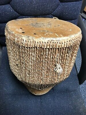 African Hand Drum Skin Hide Covered Cow Embuutu Tribal Djembe Goat Ngoma