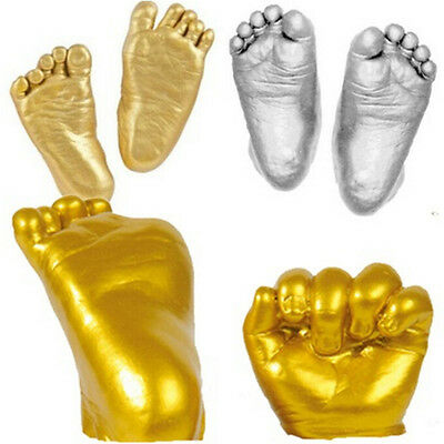 3D Baby Hand & Foot Print Plaster Casting Kit Handprint Footprint Keepsake XA