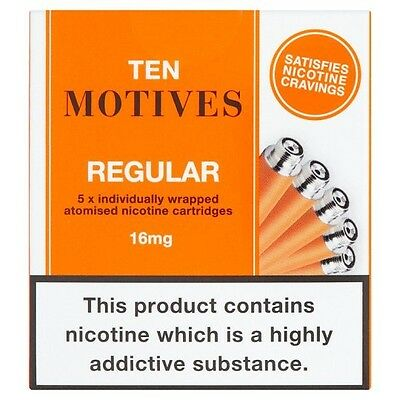 10 Motives / Ten Motives REGULAR cartridges 16mg/ml x5 - 10 packs