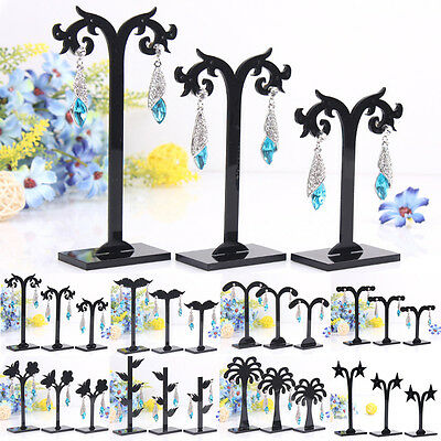 3 PCS Jewelry Organizer Holder Gift Simple Various Height Earrings Display Stand