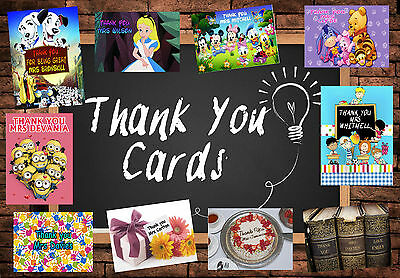 PERSONALISED thank you TEACHER card Large A5 school thanks leaving thankyou (1)