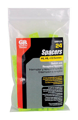 Gardner Bender GSP-24 24 Piece Switch and Receptacle Spacers Neon Green