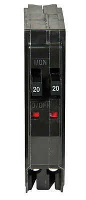 Square D  QO  Tandem/Double Pole  20/20 amps Circuit Breaker