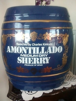 Vintage Amontillado Ceramic Sherry Barrel [Good Condition ]Fantastic Bar Display
