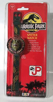 Vintage Jurassic Park Spitter Dinosaur Digital Wrist Watch 1992 Hope Sealed New