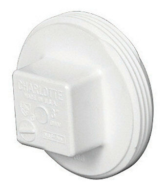 Charlotte Pipe  Schedule 40  MPT  4 in. Dia. PVC  Clean-Out Plug