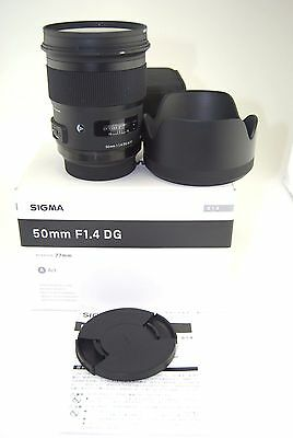 Sigma 50mm F1.4 DG HSM Art Lens for Sony DSLR Cameras Only-Used