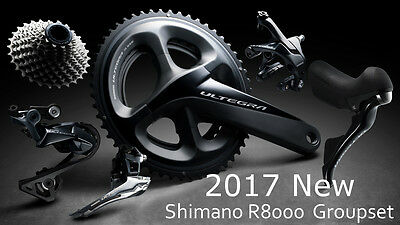 New Shimano Ultegra HOLLOWTECH II 11-speed R8000 8000 Road Components Groupset