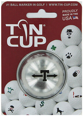 Tin Cup. Golf Ball Marker System. Alpha Players Letter T