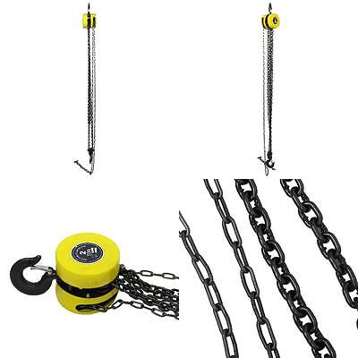 Heavy Duty 2 Ton Chain Pulley Tool Load Lifting Block Tackle Engine HK