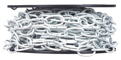 Campbell  10  White Polycoated  White  Decorative Chain  0.14 in. Dia. 1.24 in.