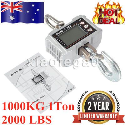 1000KG 1Ton 2000 LBS Digital Crane Scale Heavy Duty Hanging Scale OCS-S In AU