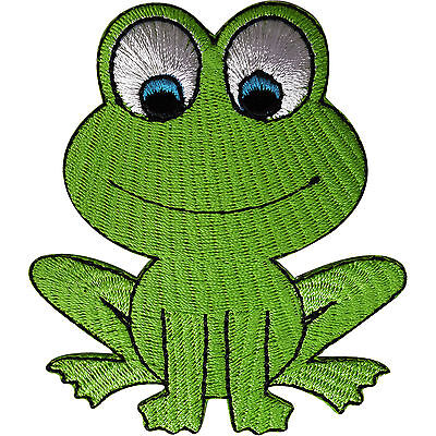 Frog Patch Embroidered Iron Sew On Clothes Bag Badge Animal Embroidery Applique