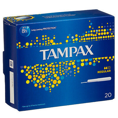 20, 40 or 80 Tampax Applicator Tampons Regular (20) Brand New Fast Dispatch