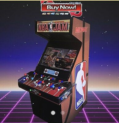 Arcade machine NBA Jam 2TB Hyperspin Setup 30,000 Plus Games With Pinball!!