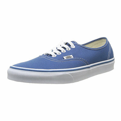 Vans VEE3NVY-085D Unisex Navy Canvas Trainers Shoe, 8.5D M US Size