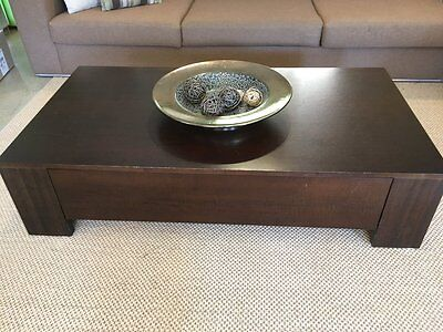Contemporary Wooden Coffee Table with large storage drawer