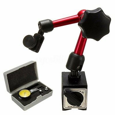 Dial Test Indicator Gauge Scale Precision Mini Magnetic Base Holder Stand Useful