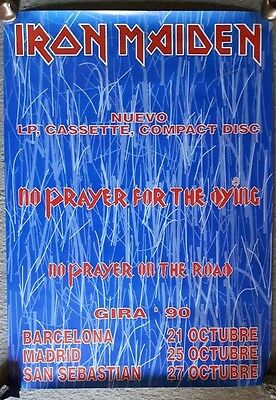 IRON MAIDEN no prayer for the dying 1990 ORG VINTAGE SPANISH TOUR PROMO POSTER