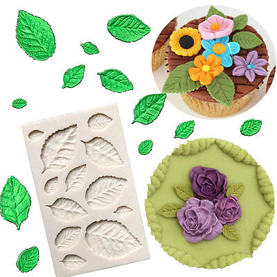 Leaves Embellisment Silicone Fondant Mould Cake Decor Sugar Chocolate Mold