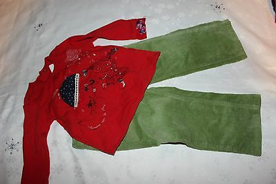 Baby girls outfit ESPRIT & CATIMINI long sleeve top and pants size 1+