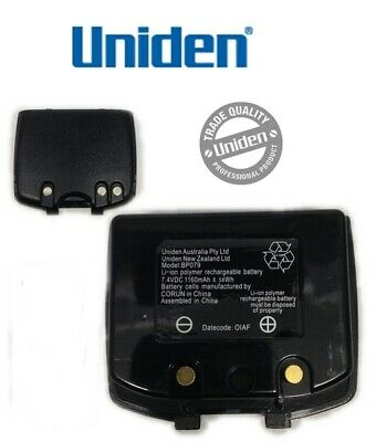 Uniden Genuine BP079 1160mAh Lithium-ion rechargeable battery UH750 UH074 UH076