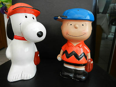 Snoopy and Charlie Brown money boxes