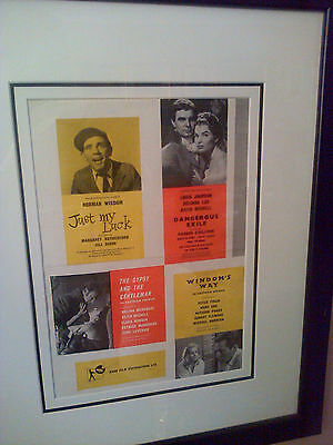 Movie Posters - 4 British Original Posters Including 'just My Luck'norman Wisdom