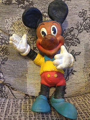 WALT DISNEY VINTAGE 1960s? MICKEY MOUSE BENDY TOY 11 INCHES